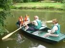 Barques et canoës au Parc Caillebotte de Yerres
